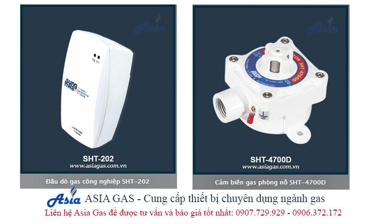 đầu dò gas cảm biến gas phòng nổ thiết bị phát hiện rò rỉ khí gas asia gas