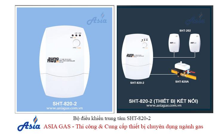 Bộ điều khiển trung tâm sunghwa SHT-820-2 báo động rò rỉ gas ASIA GAS