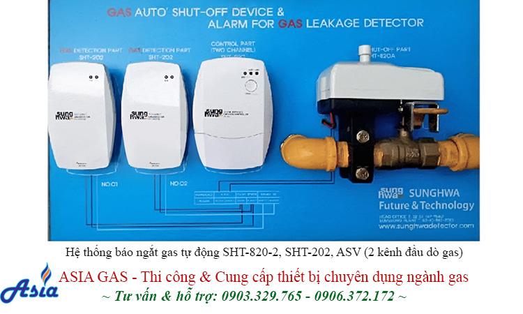 Hệ thống báo ngắt gas tự động sunghwa cho kho gas nhà máy, nhà bếp, nhà hàng