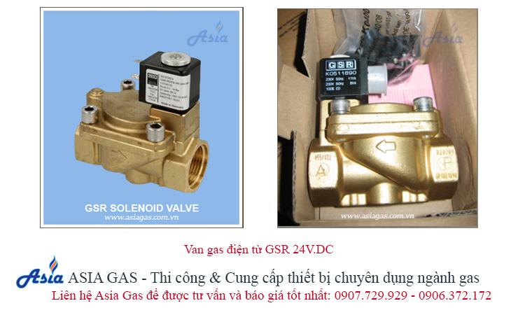 Van điện từ 24V ngắt gas tự động kết nối với bộ điều khiển trung tâm GSR 24V DC