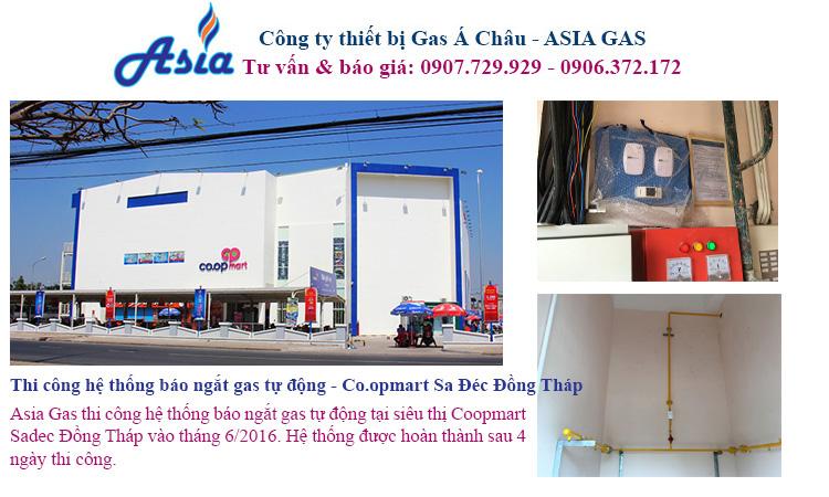 lắp đặt hệ thống báo ngắt gas tự động cho siêu thị
